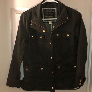 J. Crew olive utility jacket